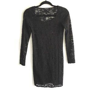 ARITZIA Talula Lace Long Sleeve Dress Black S